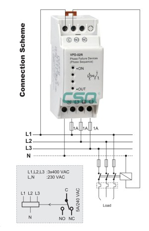 New product VPD02R phase failure relay switch, View relay switch, CSQ Product Details from SIQI