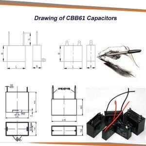 Fan Capacitor Cbb61 2 Wires 35 Uf 4 Uf 45 Uf 5 Uf 6 Uf 8