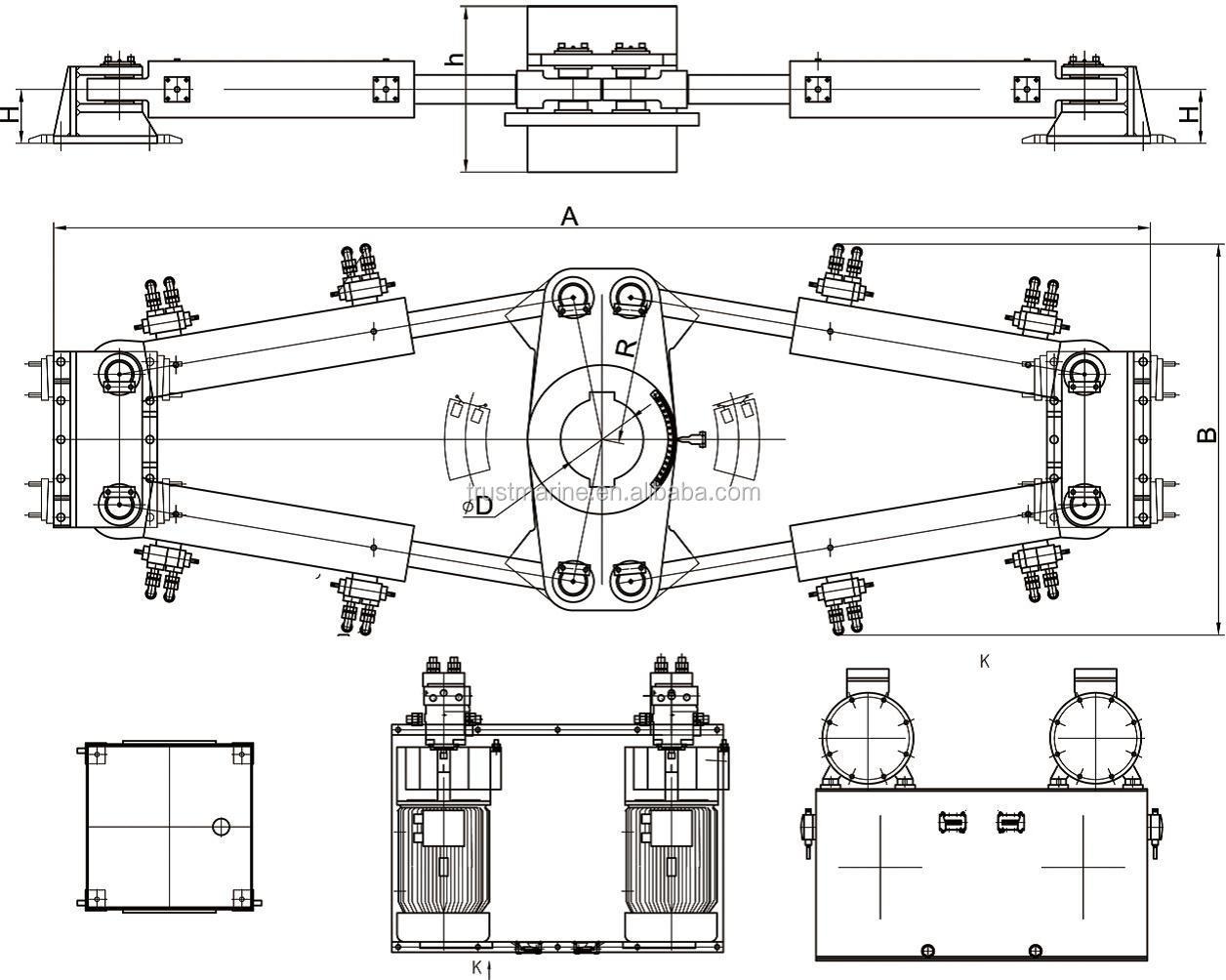 400 Kn M Swing Type Electro Hydraulic Marine Steering