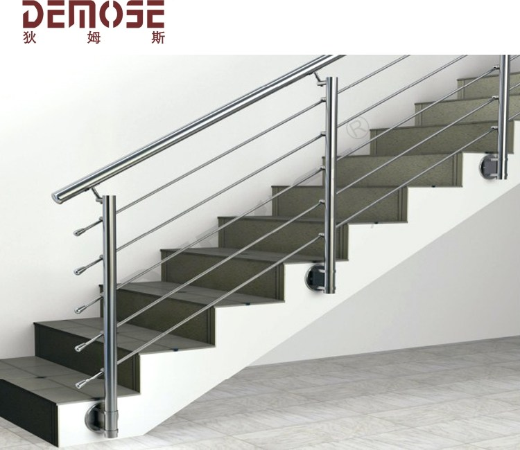 Side Mount Handrails Indoor For Stairs Simple Design Ss Railing   Wall Mounted Handrail For Stairs   Stair Interior   Brushed Nickel   Thin Glass   Attached Wall   Mounting