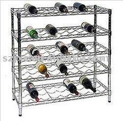 casier a vin en metal bouteille de vin etagere