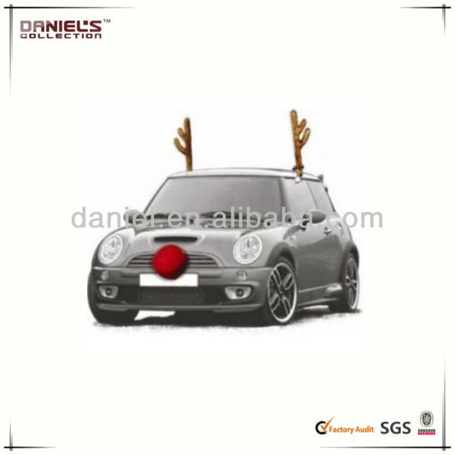 Car Reindeer Costume Dress Up Antler Kit Christmas Antlers With Nose Deluxe Be