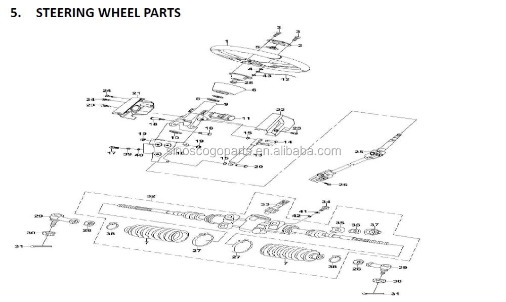 1000 Rear Differential,Rear Gear Box,Rear,Diff,Hisun,Utv