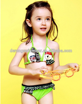 Factory Wholesale Hot Teen Sexy Girl Bikini Swimwear Cute Children Swimsuit