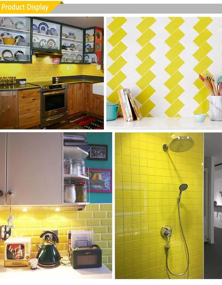 4inx12in 4inx8in yellow glossy bathroom floor tile ceramic peel stick tile subway tile buy subway tile floor tile ceramic peel stick tile product on