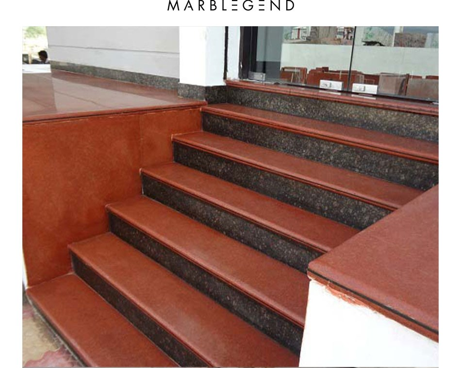 Interior Stone Steps And Risers Design Granite Stairs View Indoor | Granite Design For Stairs | Floor | Front Wall | Bedroom | Grenite Pathar | Sunny