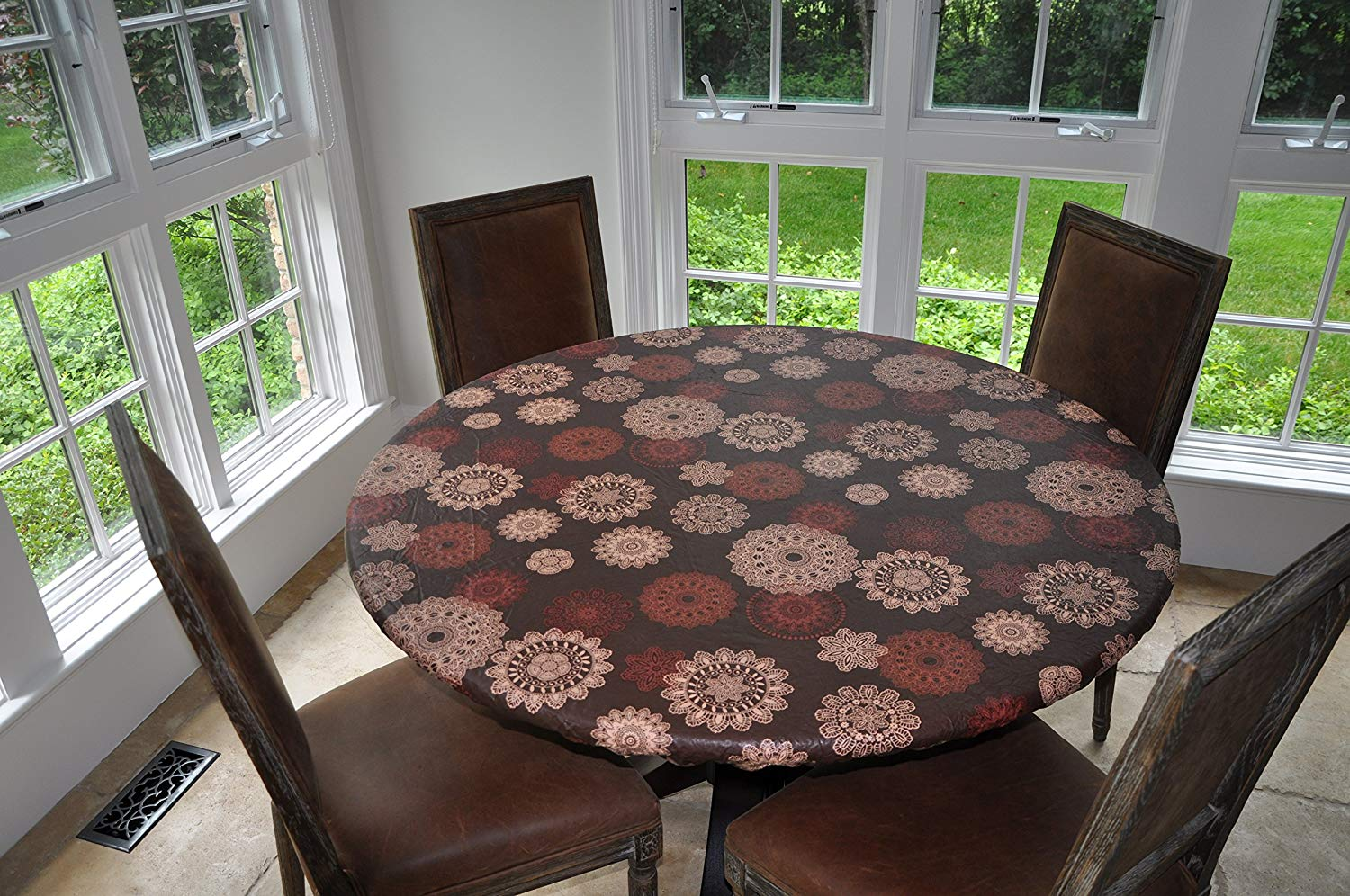 cheap elastic fitted round table cover