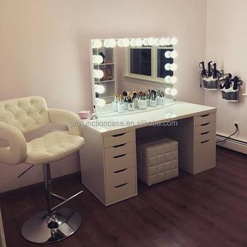 impressions de grande taille salon de coiffure miroir de maquillage de vanite avec led lumieres broadway