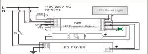 Led Battery Light Kit With Inverter For Emergency Fluorescent Light With Nimh Battery Pack