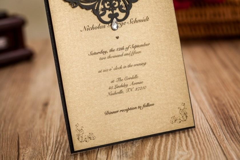 Custom Print Paper 2017 Wedding Invitations Philippines