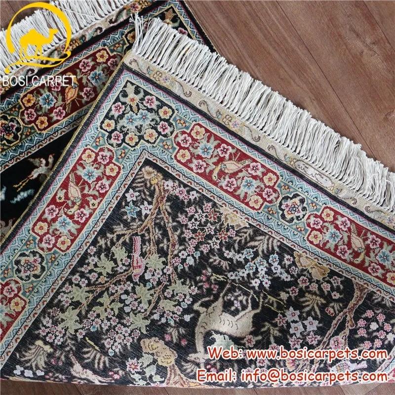 3 x 4 5 belle pure cerfs arbre de vie pictural fait a la main turc tapis en soie buy arbre de vie tapis en soie fait a la main tapis en soie