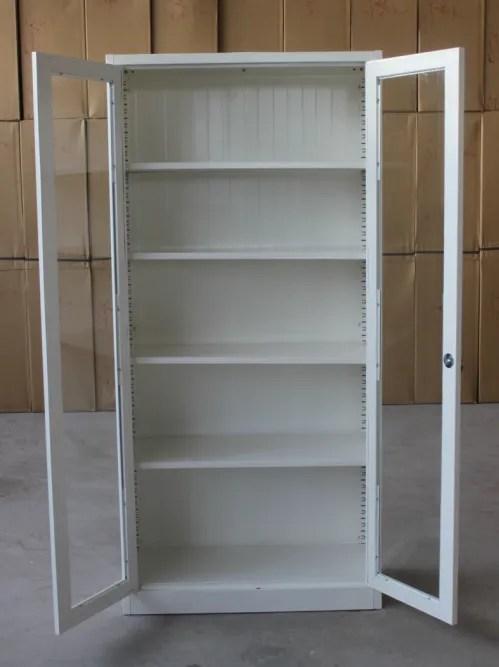 naiku meuble kd en verre et metal bibliotheque avec etageres reglables mobilier moderne buy armoire a livres armoire de bibliotheque a porte