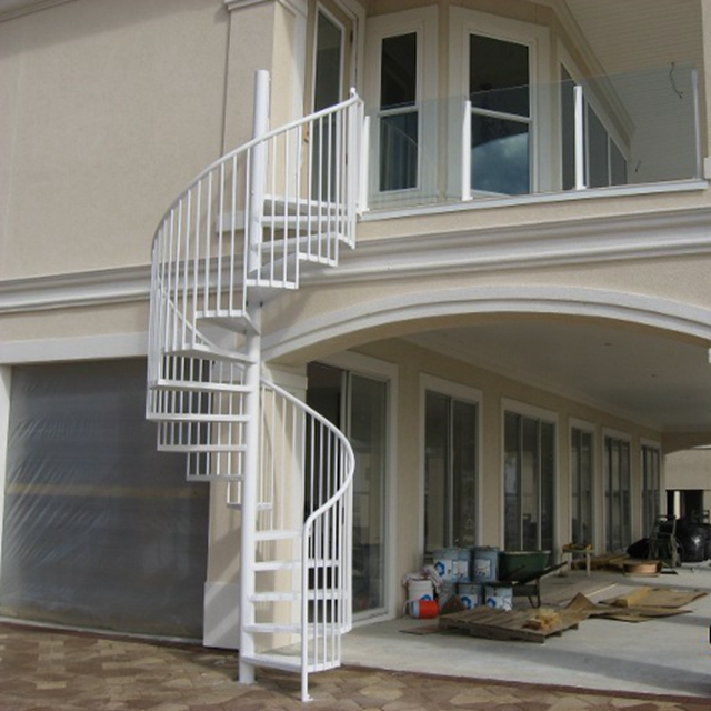 Deck Used Outdoor Metal Stairs Steel Spine Spiral Staircase Buy | Outdoor Spiral Staircase For Deck | 36 Inch Diameter | Small Footprint | Steel | Balcony Outdoor | 2 Story