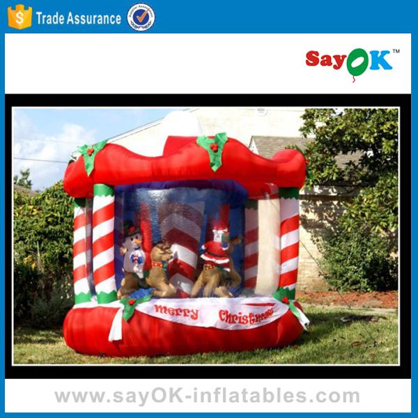Lovely Inflatable Carousel Snow Globe For Christmas