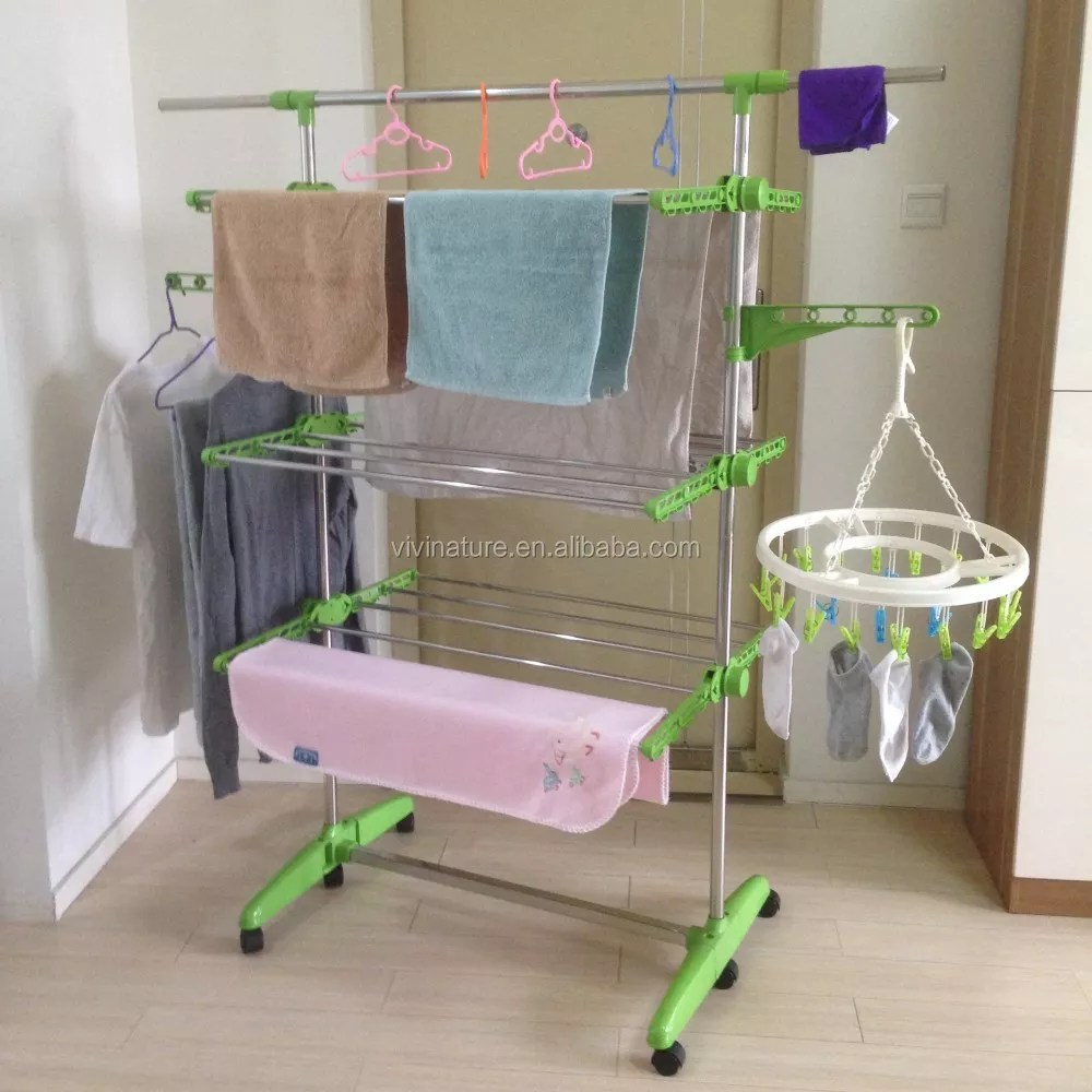 heavy duty cloth drying rack foldable laundry clothes folding hanger indoor buy fold hook clothes hanger laundry room clothes hanger fold hook