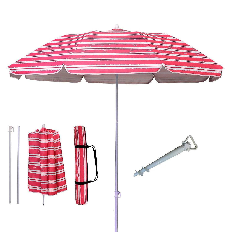 parasol protection ultraviolet proor adjustable outdoor parasol sun shade fishing beach patio umbrella with tilting tilt buy beach umbrella folded