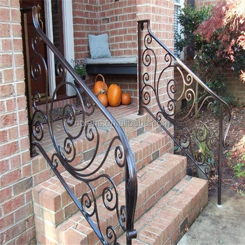 Customized Tube Grill Wrought Iron Railing Panels Designs For | Handrails For Front Steps | Small House | Granite | Easy | Cast Iron | Wrought Iron