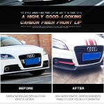 Ttrs Tts Tt 8j Carbon Fiber Front Lip Spoiler For Audi Convertible Roadster 08 14 Buy Front Lip Spoiler Tt Front Lip Front Spoiler For Audi Product On Alibaba Com