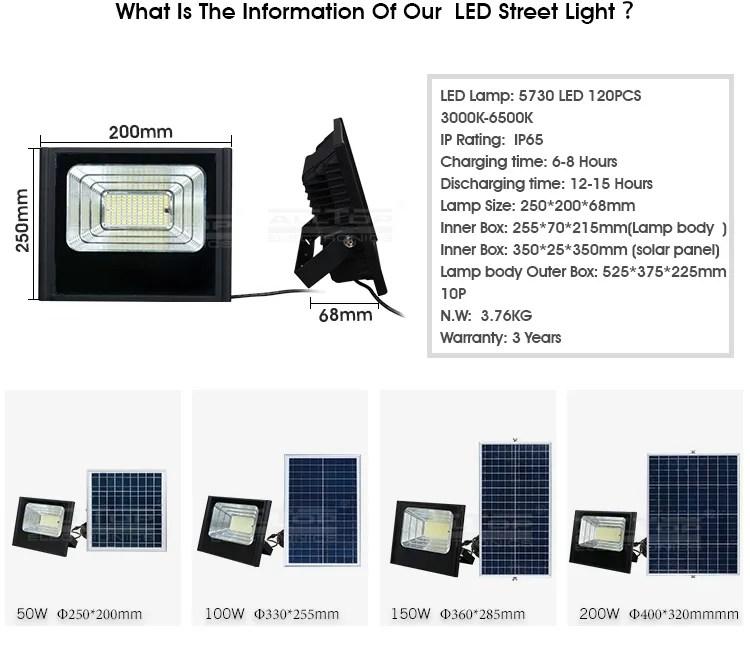 ALLTOP Wholesale price 50w 100w 150w 180w 200w Waterproof IP67 Solar Led Slim Flood Light