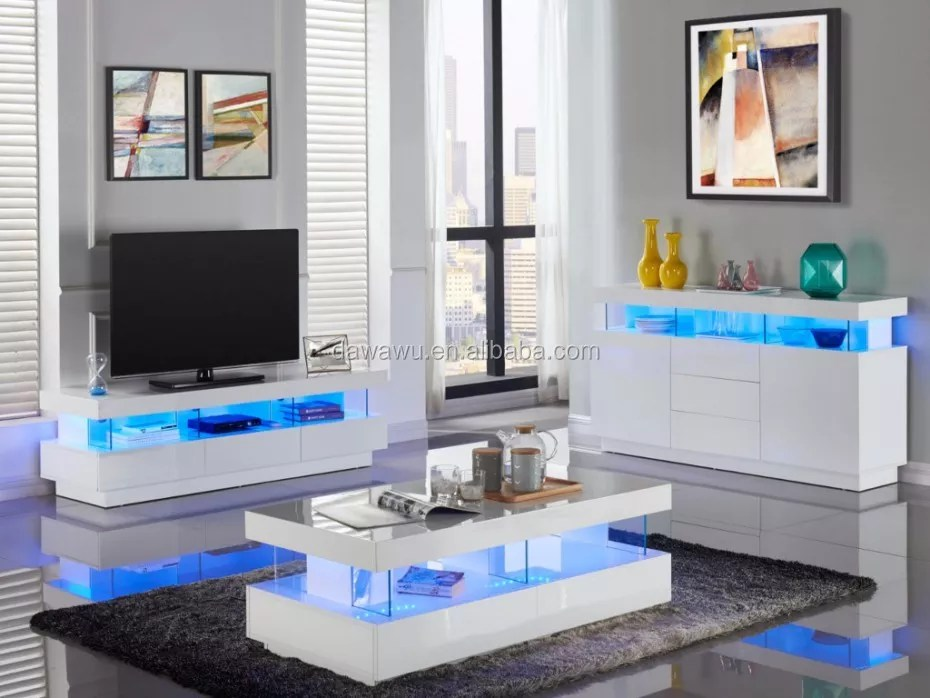 meuble tv fabio mdf laque blanc leds 3 tiroirs 3 niches tv stand buy tv stand living room furniture product on alibaba com