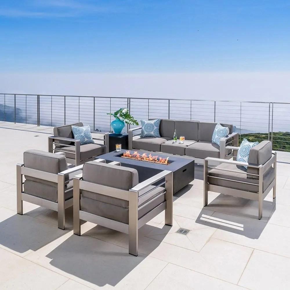 top sell hotel resort villa apartment leisure outdoor furniture patio garden furniture brushed aluminum frame modern sofa set buy outdoor