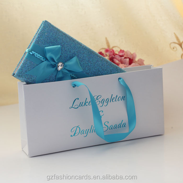 2015 Latest Luxury Elegant Wallet Wedding Invitation Card