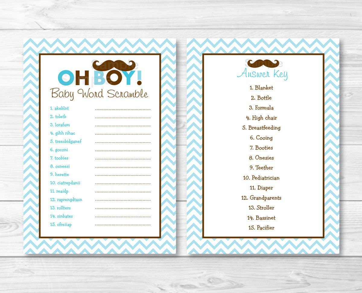 Buy Baby Word Scramble Baby Shower Game 24 Sheets In