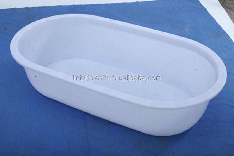 Pe New Material Nesting Plastic Oval Container Bath Tub