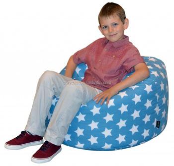 enfants grand joe chaise de sac de haricot cercle colore pouf assis coussin de mode