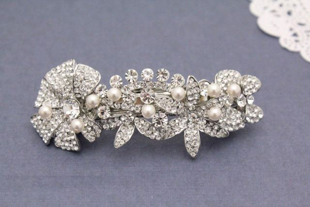 buy boho hair wedding hair comb pearl hair barrette crystal