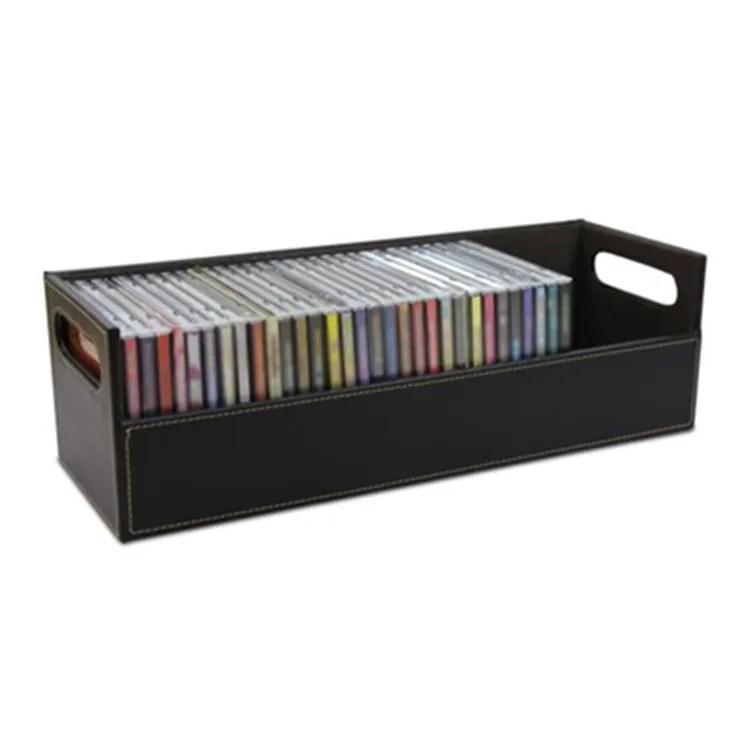 boite de rangement pour cd et dvd support tablette a empiler boitier pour disques organisateur d espace buy boite de rangement de cd support de