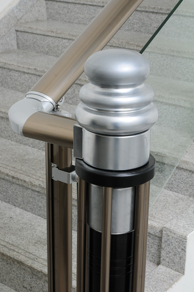 Modern Aluminum Stair Handrail Railing With Price | Removable Handrail For Stairs