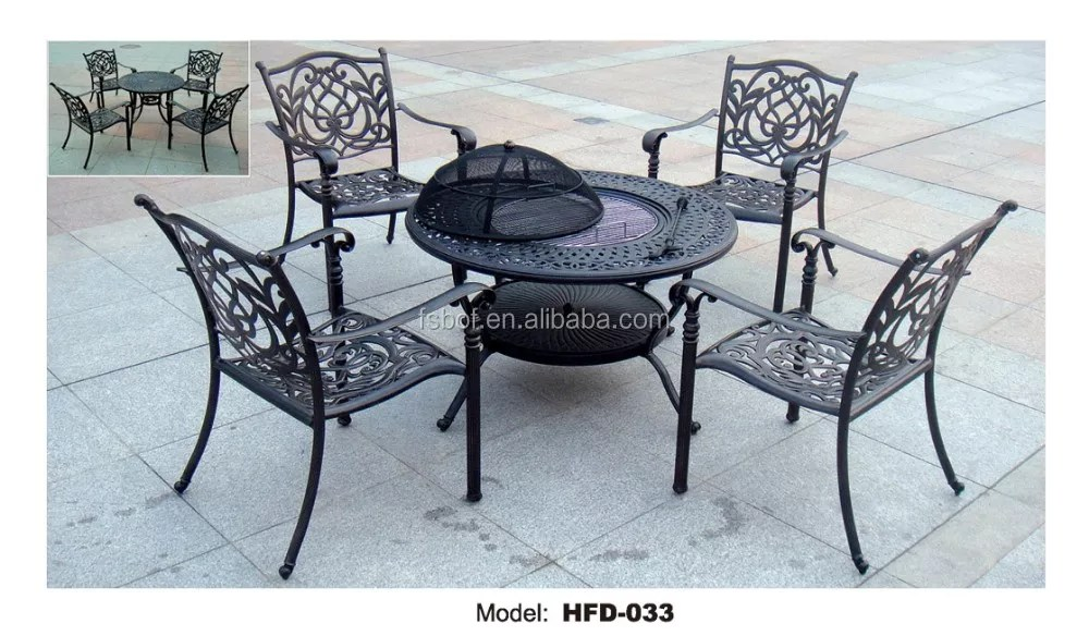 factory cast iron garden furniture cast iron table and chair wrought iron garden table and chairs set hfd029 buy cast iron garden furniture wrought