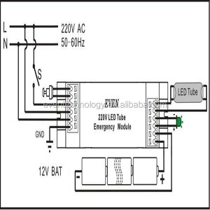 Emergency 16w 2d Bulkhead Light With Liion Battery Pack
