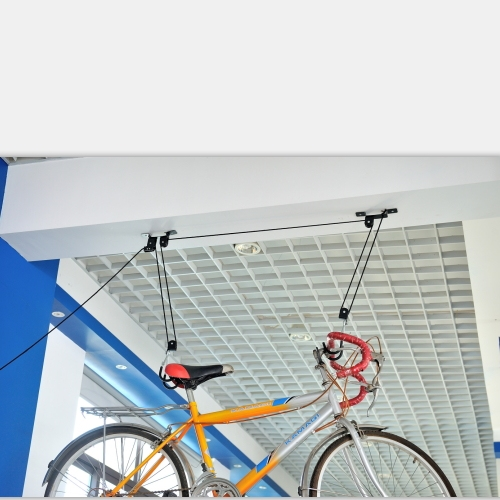 high quality pp rope and plastic pulley ceiling bike lift bike hanging rack bicycle lift pulley storage system h405c buy bike ceiling lift bicycle