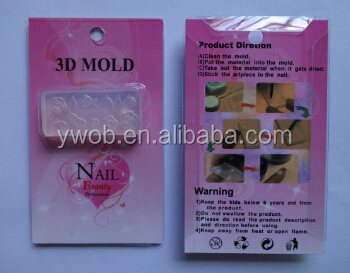 3d Angel Mold Nail Art Template Diy Tool Silicon Model