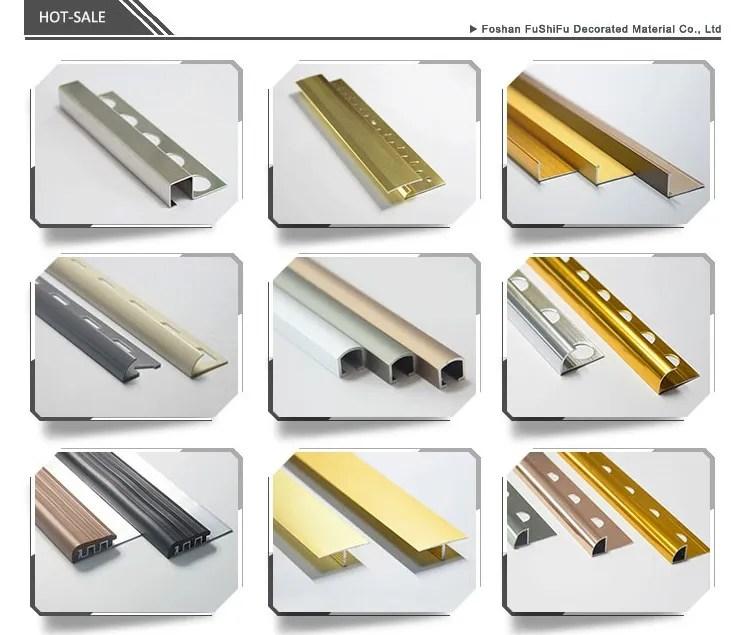 2 5 meter straight edge 90 degree tile trim polished gold decorative metal trim strip aluminum tile trim buy aluminum tile trim gold metal trim