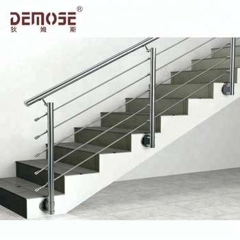 Side Mount Handrails Indoor For Stairs Simple Design Ss Railing | Metal Handrails For Indoor Stairs | Baluster | Indoor Outdoor | Staircase Remodel | Stainless Steel | Stair Treads