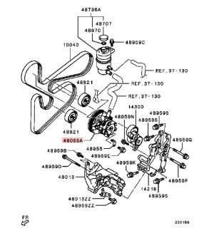 Power Steering Oil Pump For Mitsubishi Pajero Montero