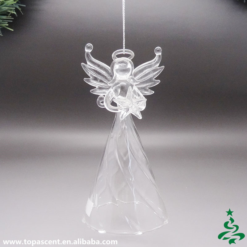 2015 Delicate Glass Hanging Christmas Angels Decorations