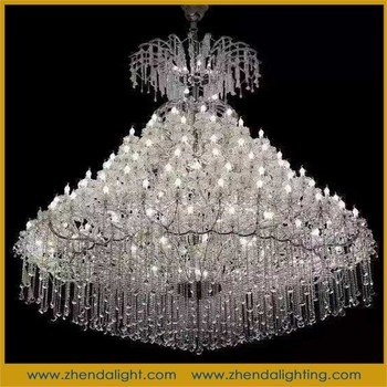 Modern Led Chandelier Large Crystal Chandeliers For Hotel Luxurious