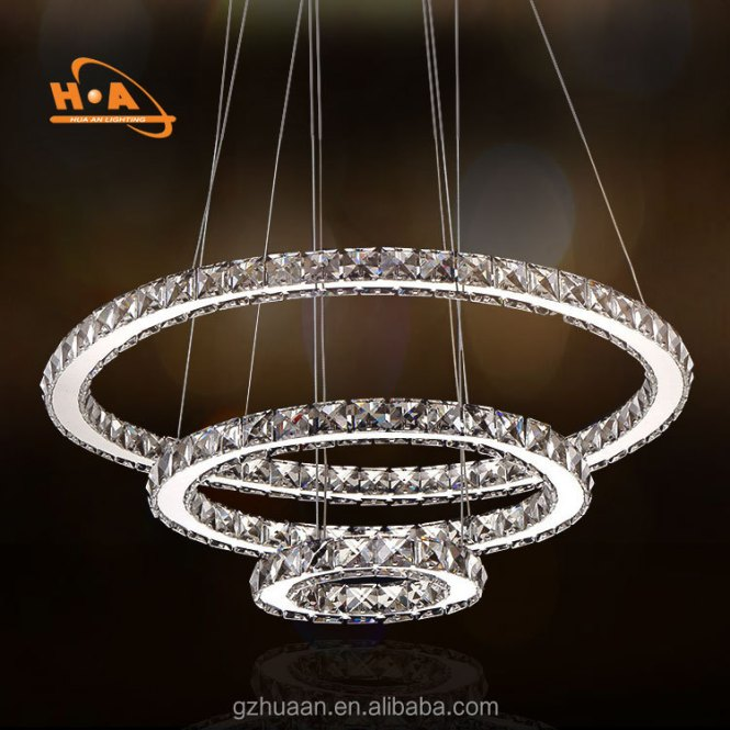 China Supplier 3 Ring Led Chandelier Whole Beautiful Round Crystal Chandeliers For Living Room