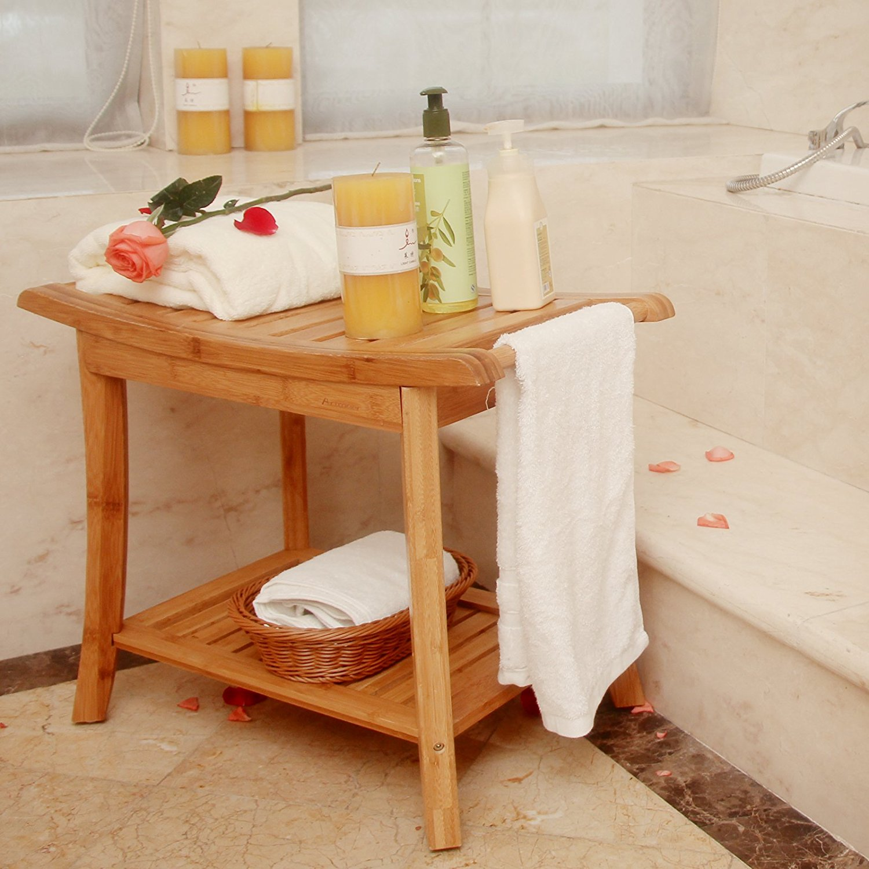tabouret de rangement pour baignoire et douche siege de salle de bain spa etagere de rangement a 2 niveaux porte serviettes buy chaise de