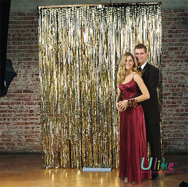 gold metallic foil curtains for party wedding and party customize curtain buy wedding and party customize curtain stage background decoration led