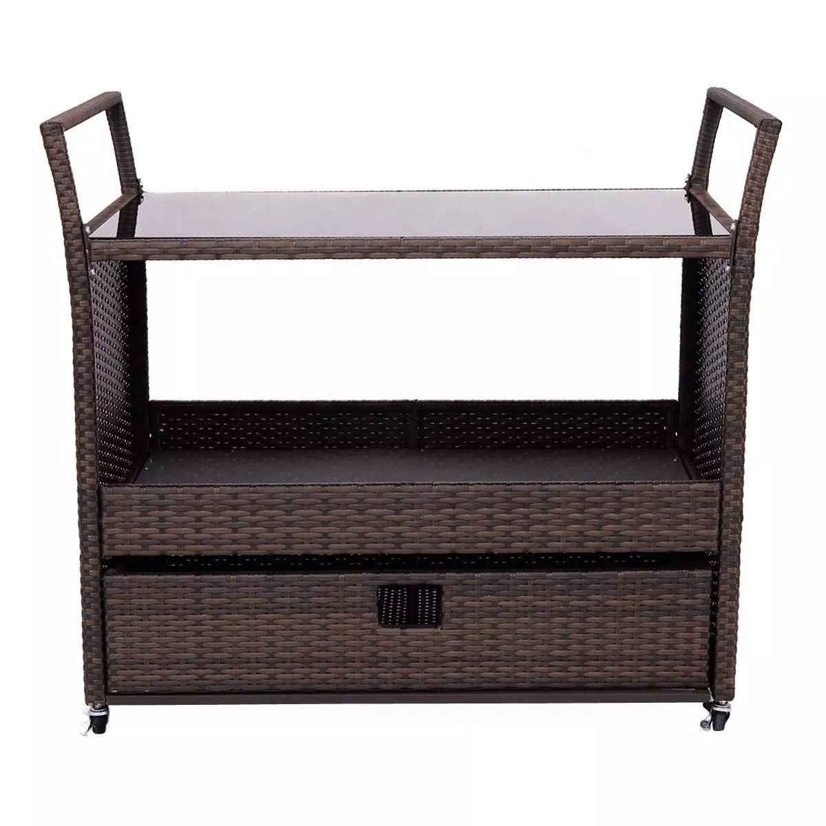 outdoor wicker portable party bar drink entertaining patio rolling serving cart with shelf buy kitchen serving trolley cart hotel service cart hotel