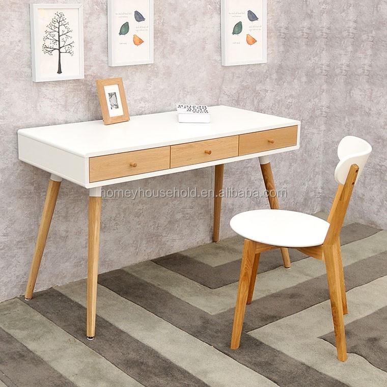 Tables De Bureau Mode Scandinave Blanc Chne En Bois Table