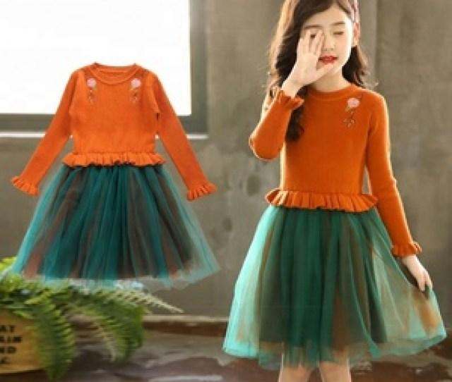 2018 Hot Selling Children Clothing Autumn Fall One Piece Long Sleeve Kerala Girl Dress