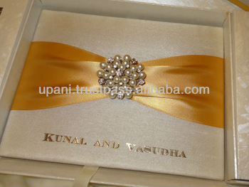 Silk Wedding Invitation Folio Supplieranufacturers At Alibaba