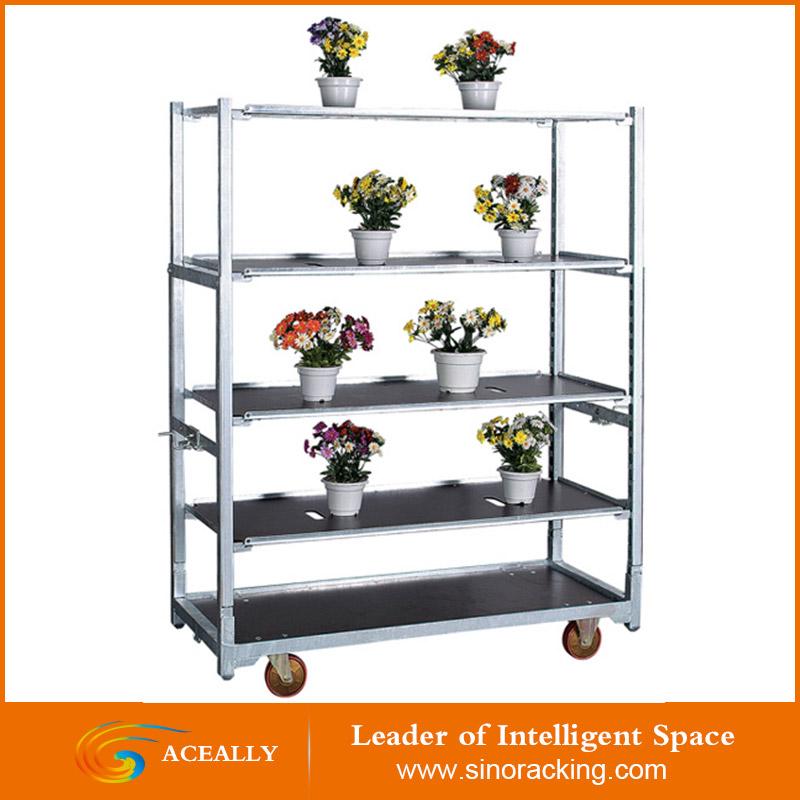 serre de jardin en metal a 4 roues etagere de presentation mobile pour fleurs plantes chariot de transport livraison gratuite buy chariot a
