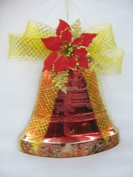 christmas decoration red plastic bells handmade - Large Plastic Christmas Bell Decorations